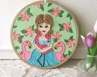 Embroidered Art Hoop - Birds of a Feather