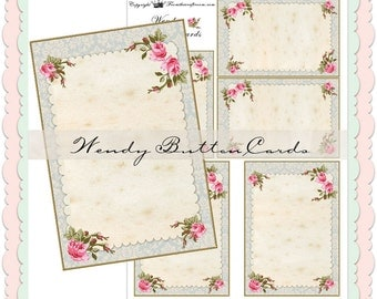 Wendy Button Cards instant download