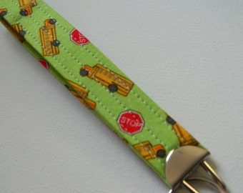 The Skinny Keyfob in School Bus Print