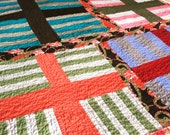 lap throw or baby quilt -- strong and funky crosses