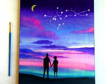 Our Constellation - Zodiac Love Art Block
