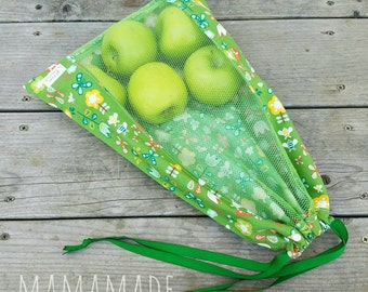 Reusable Produce Bag - Girl Friday - from green by mamamade