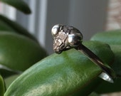 praying MANTIS stacking ring oxidized insect sterling silver made to order