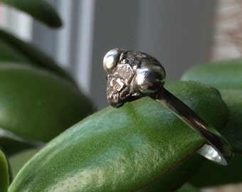 praying MANTIS stacking ring oxidized insect jewelry sterling silver made to order