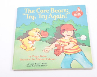 The Care Bears: Try, Try Again - Peggy Kahn - Vintage Children's Book - Inspirational - Motivational ~ The Pink Room ~ 170209