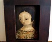 FOR DEBRA ~Primitive Doll Portrait Giclee Reproduction of Original by Chickadee Primitives