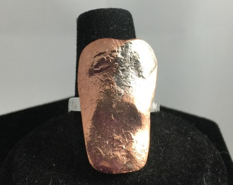 Copper long ring 7 1/2