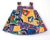 Batman & Robin Girls Dress - Superhero Marvel Comics Dress -  Baby Dress, Toddler Dress, Girls Dress - Sizes 6 - 12 Months to Girls 4T