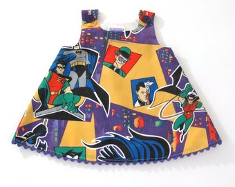 Batman & Robin Girls Dress - Superhero Marvel Comics Dress -  Baby Dress, Toddler Dress, Girls Dress - Sizes 18 - 24  Months to Girls 4T