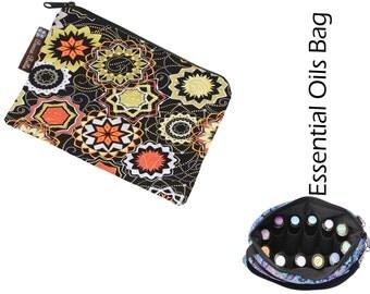 Essential Oils Take Along Bag by Borsa Bella - Waterproof lining fabric - Madallion Fabric