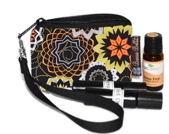 Small Essential Oil Bag - Essential Oil Pouch - Small Bag - Oil Pouch - Fast Shipping - Madallion Fabric