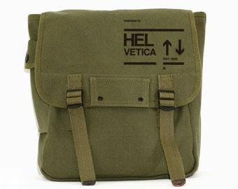 Backpack, Helvetica, Canvas Rucksack, Travel Bag, Typography Mens Gift, Men's Laptop Backpack, Women's Backpack, Back to School