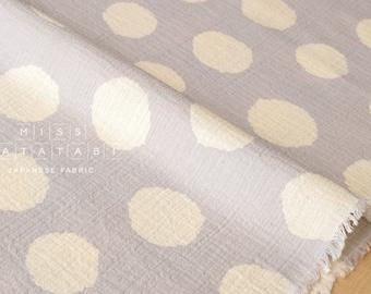 Japanese Fabric Kokka big dots gauze - B - 50cm