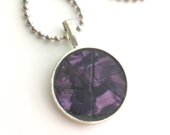 Purple Passion Mosaic Guitar Pick Pendant Necklace