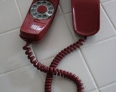 VINTAGE wall mount TRIMLINE deep red TELEPHONE