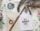 DIY BANNER KIT / affirmation banner, wall hanging, pennant flag, make your own, handmade, custom, positive quote wallbanner