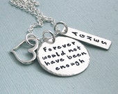 Remembrance Necklace - Hand Stamped Sterling Silver - Forever would not have been enough - Personalized Memorial Jewelry