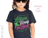 lettuce turnip the beet ® trademark brand OFFICIAL SITE - dark grey track shirt with logo - toddler and kid sizes
