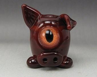 Handmade Lampwork Glass Alien Focal Bead by Jason Powers SRA