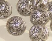 """CELTIC Design Set 12 Vintage New Antiqued SILVER Metal fancy buttons 16mm 5/8"""""""