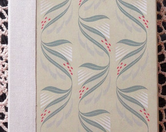 Handbound Artist Journal or Wedding Guest Book from vintage book