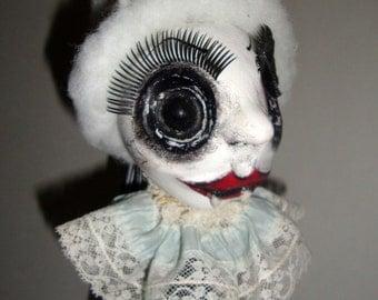 Marie Bat-toinette -  Creepy  Halloween Horror Gothic Handmade Vampire Folk Art Primitive Doll Decoration