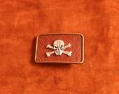 Skull and Cross Bones  belt buckle