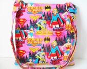 Wonder Woman Crossbody Bag - Sling messenger bag - Wonder Woman - Messenger Bag - Ipad Bag - Crossbody - Zipper Bag - Tablet Case