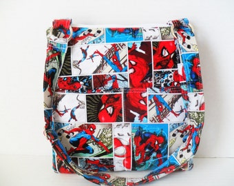 Spiderman Crossbody Bag - Sling bag - Spiderman Messenger Bag - Ipad Bag - Crossbody- Spiderman Case - Zipper Case - Tablet Case - Zipper