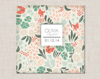 New GIRL Modern Baby Memory Book (Flower 3  Album  9.25 x 9.5)