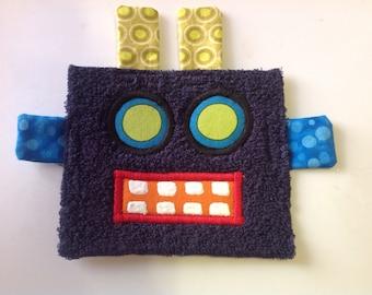 Dark Blue Robot Patch