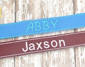 Personalized Embroidered Bracelet  - Girls Bracelet - Womens Bracelet - Boys Bracelet - Bookmark