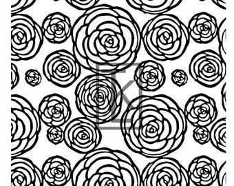 Cabbage Rose Silk Screen
