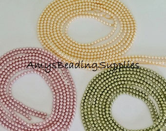 Swarovski 3MM Glass pearl beads, Style 5810  (100 Beads) , Available in 4 colors LIMITED QUANTITIES
