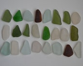 24 pieces of smooth beach sea glass sgl16