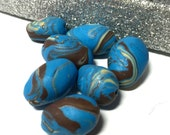 Handmade Polymer Clay Blue Spring Eggs