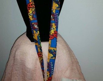 Comic Book Style Superman Lanyard