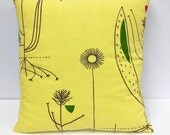 Rare iconic original Lucienne Day 50s fabric cushion  - Herb Anthony Mid Century Modern
