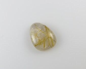 Golden Rutilated Quartz - Freeform Cabochon, 11.0 cts - 14x19 (GR252)