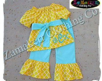 Girl Easter Outfit Top Pant Set Toddler Infant Baby Birthday 1st Custom Boutique Clothing Size 3 6 9 12 18 24 month 2t 2 3 4 5 6 7 8 T