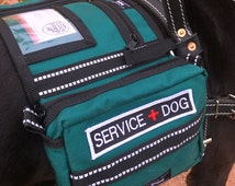 CozyHorse Service Dog Harness Vest -Backpack style vest made to fit a Harness - Guide / Mobility / Assistance or similar type Harness