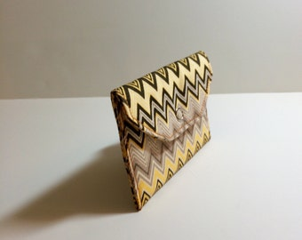 Card Pocket - Multi-Colored Chevron Pattern  - Business Cards - Holder - Wallet - Gift
