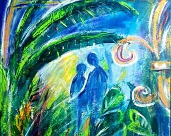 New Orleans love original PeaceSwirl painting