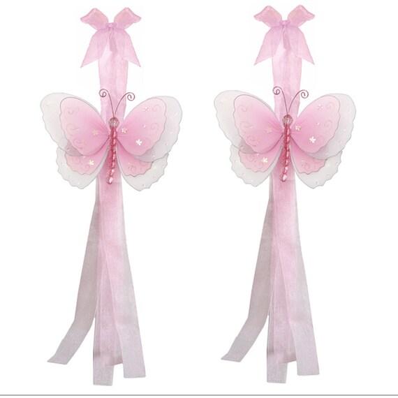 Butterfly Curtain Tieback Pair / Set Tiebacks by BugsnBlooms