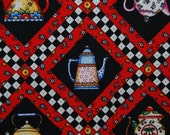 MARY ENGELEBREIT teapot red quilting treasures fabric