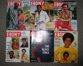 LOT of 6 vintage 70s EBONY magazines