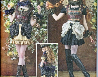Simplicity 8075 Misses Arkivestry Steampunk Costume Harness Ruff Mini Bustle Vest Sewing Pattern Sizes 6-14 NEW UNCUT