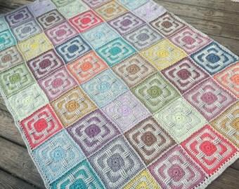 Faded Love Original Crochet Afghan Blanket Pattern by Julie Yeager