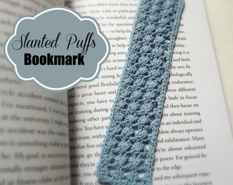 Slanted Puffs Bookmark ~ Crochet Pattern