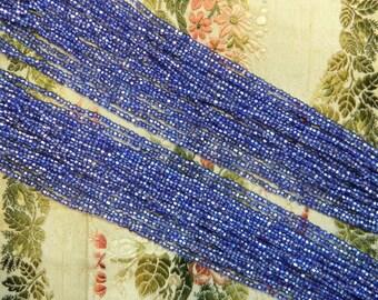 Vintage Micro Seed Bead Czech Size 12 Blue Hank